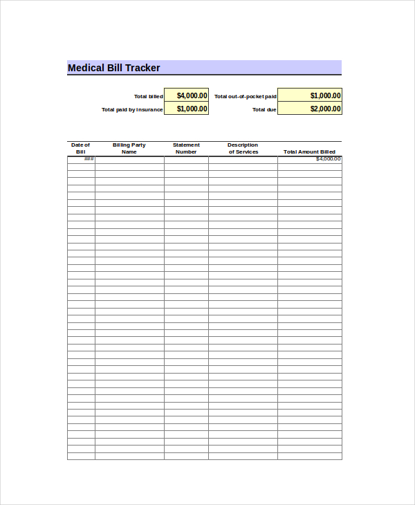 Excel Bill Template 14+ Free Excel Documents Download | Free