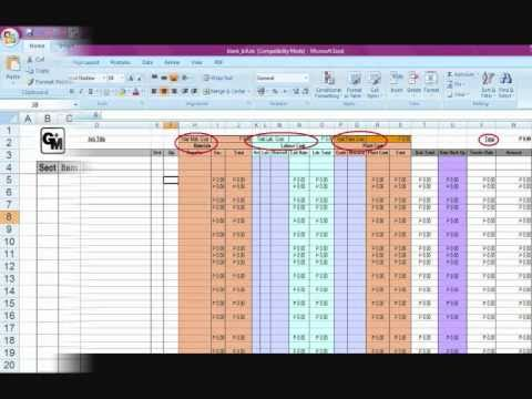 Using Excel for Bill of Quantities 0001 YouTube