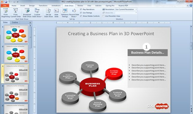 3d business ppt templates free download