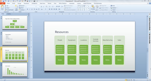 Business Plan Powerpoint Template Free Download