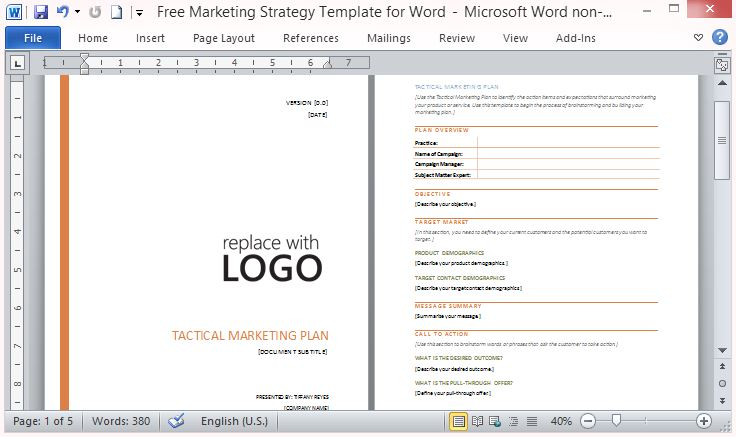 Business Marketing Templates Marketing Plan Outline Safero Adways