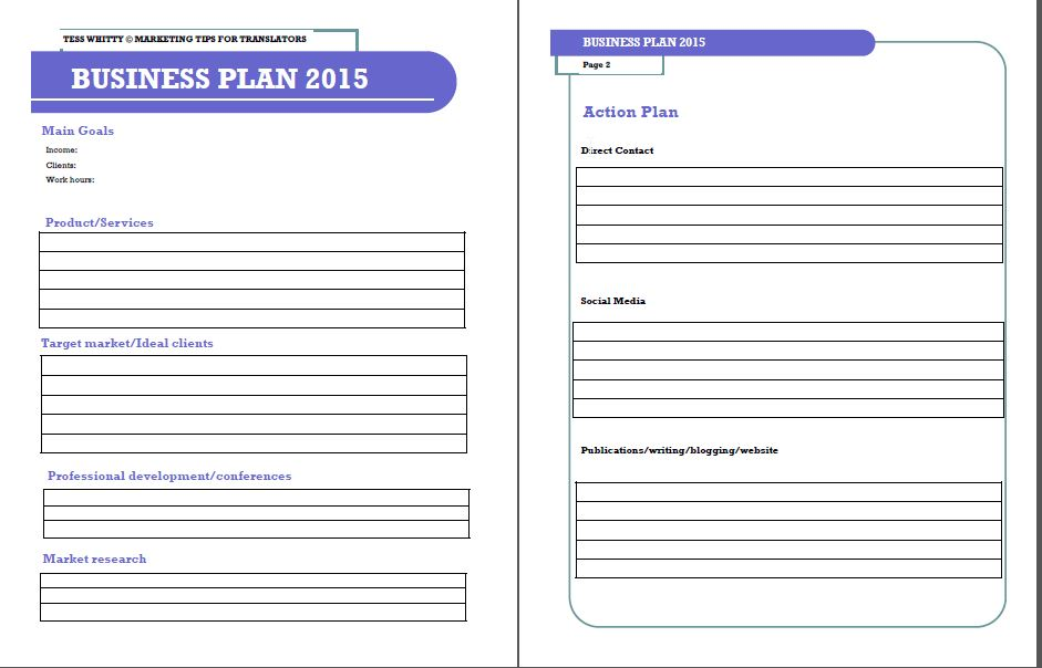 small business plan template free