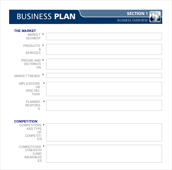 Business Plan Template Free Download Word