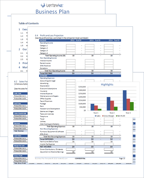 Business Plan Template In Excel