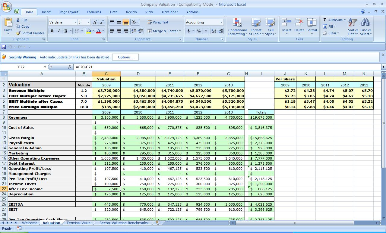 excel business templates