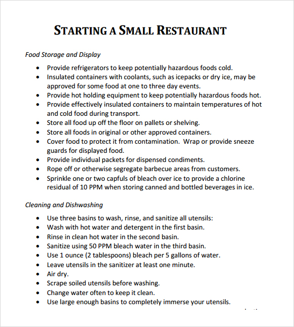 Restaurant Business Plan Template | Free Business Template