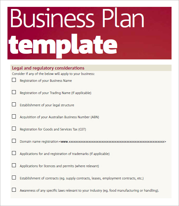 Business Plan Template Pdf | Free Business Template