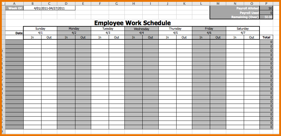 schedules templates Londa.britishcollege.co