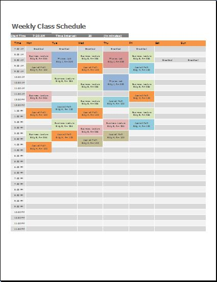 Class Timetable Template. Barbie Weekly Schedule Template Free