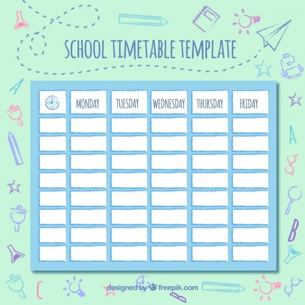Cute Class Schedule Template | listmachinepro.com