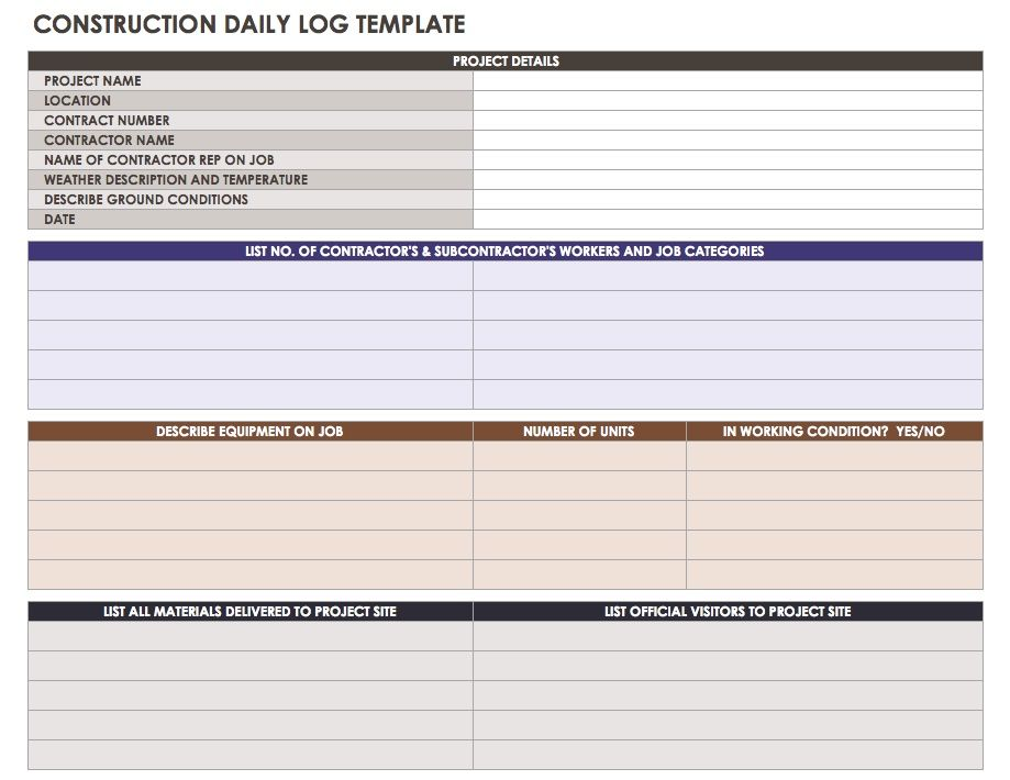 Construction Daily Reports
