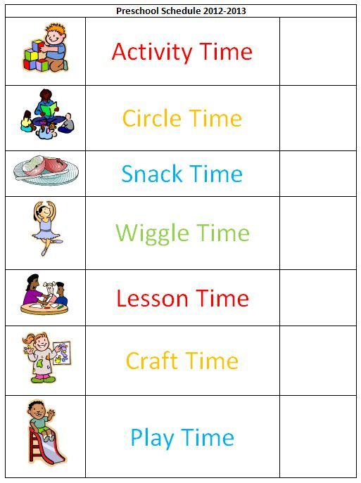 picture relating to Free Printable Daily Schedule Pictures for Preschool called Every day Agenda Template For Preschool printable routine