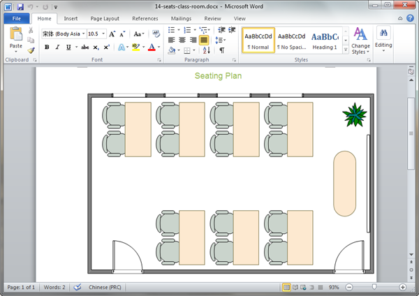 Seating Plan Templates for Word