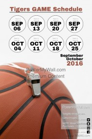 Customizable Design Templates for Sports Team Schedule   PosterMyWall