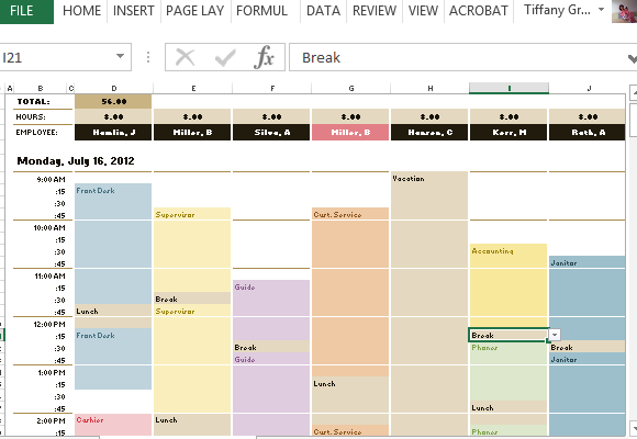 Weekly Hourly Planner Template Excel | listmachinepro.com