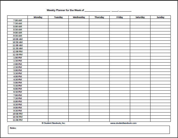 Hourly Schedule Template 32+ Free Word, Excel, PDF Format | Free