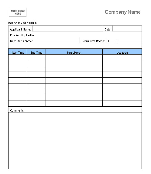 Best Photos of Interview Agenda Template Interview Schedule