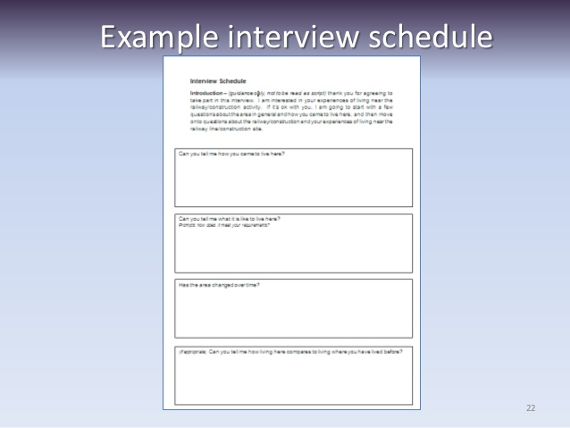 Interview Schedule Template For Qualitative Research