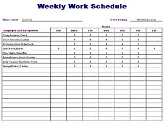 Daily Schedule Template Perfect Daily Work
