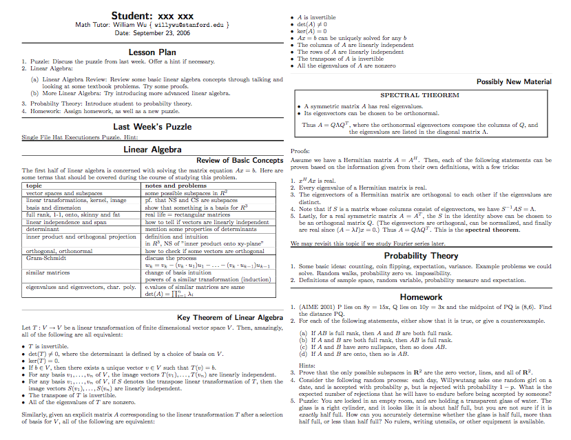 6 Middle School Math Lesson Plan Template