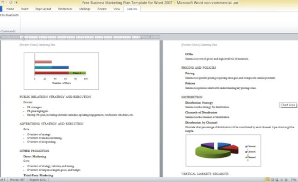 Business Marketing Plan Template For Word 2007