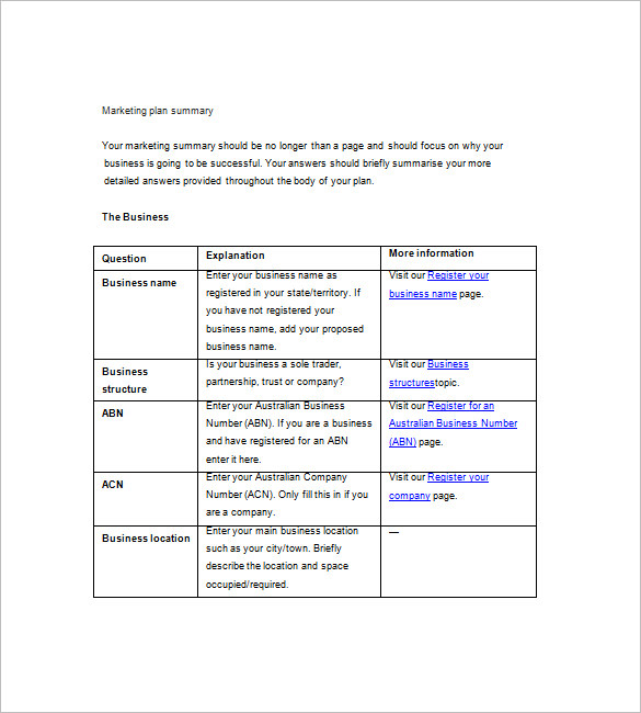 free marketing templates for word simple marketing plan template