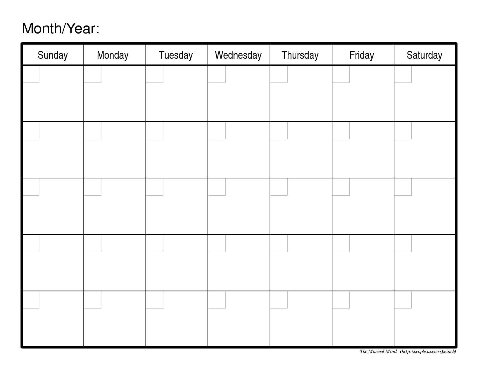 Monthly Calendar Template | monthly calendar template