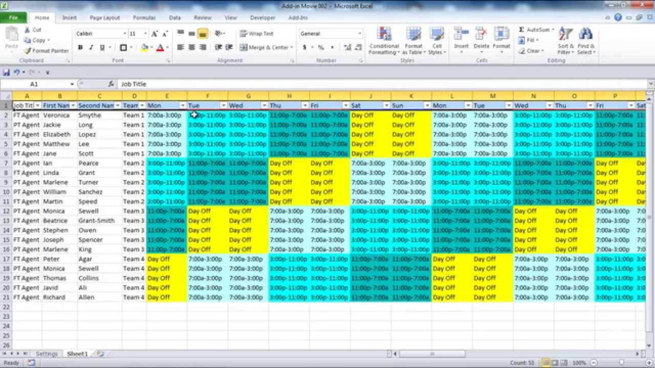 Rotating Schedule Templates 10 Free Samples, Examples Format