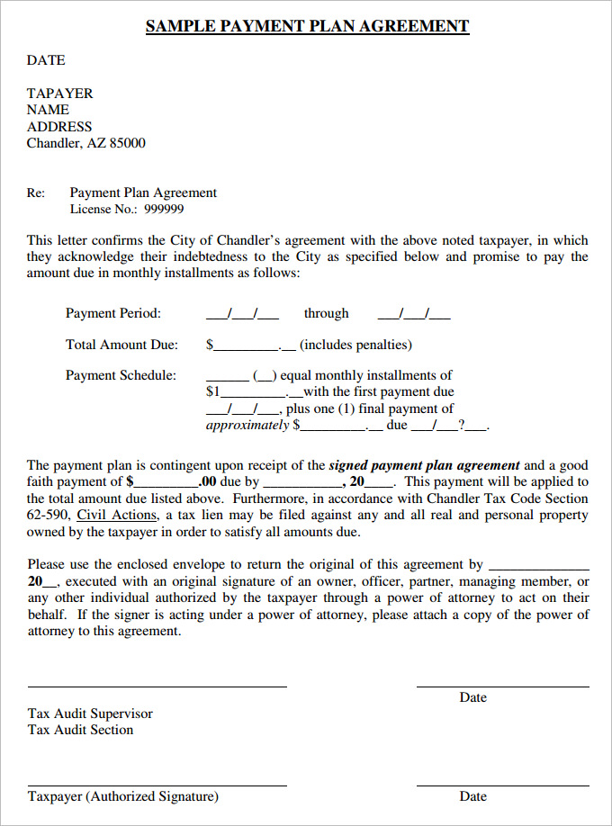 Payment Contract Templates. Payment Agreement Form In Pdf Payment