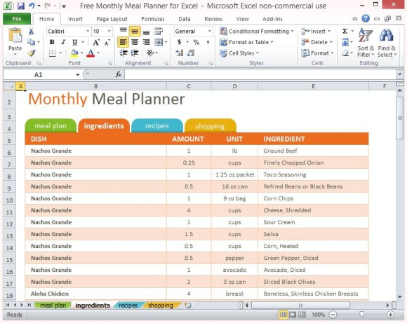 Printable Daily Planner Template MS Office Guru