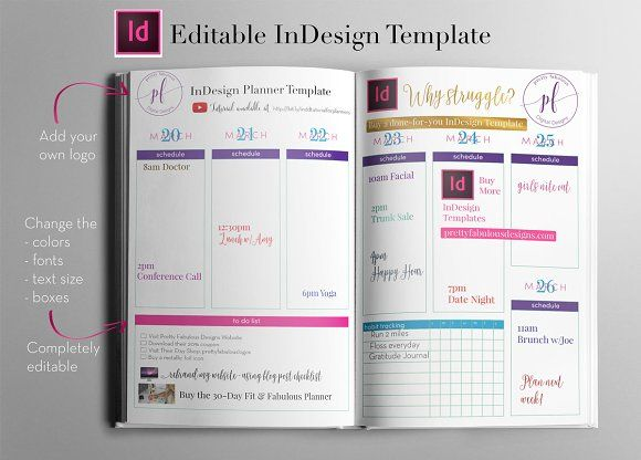 InDesign Planner Templates
