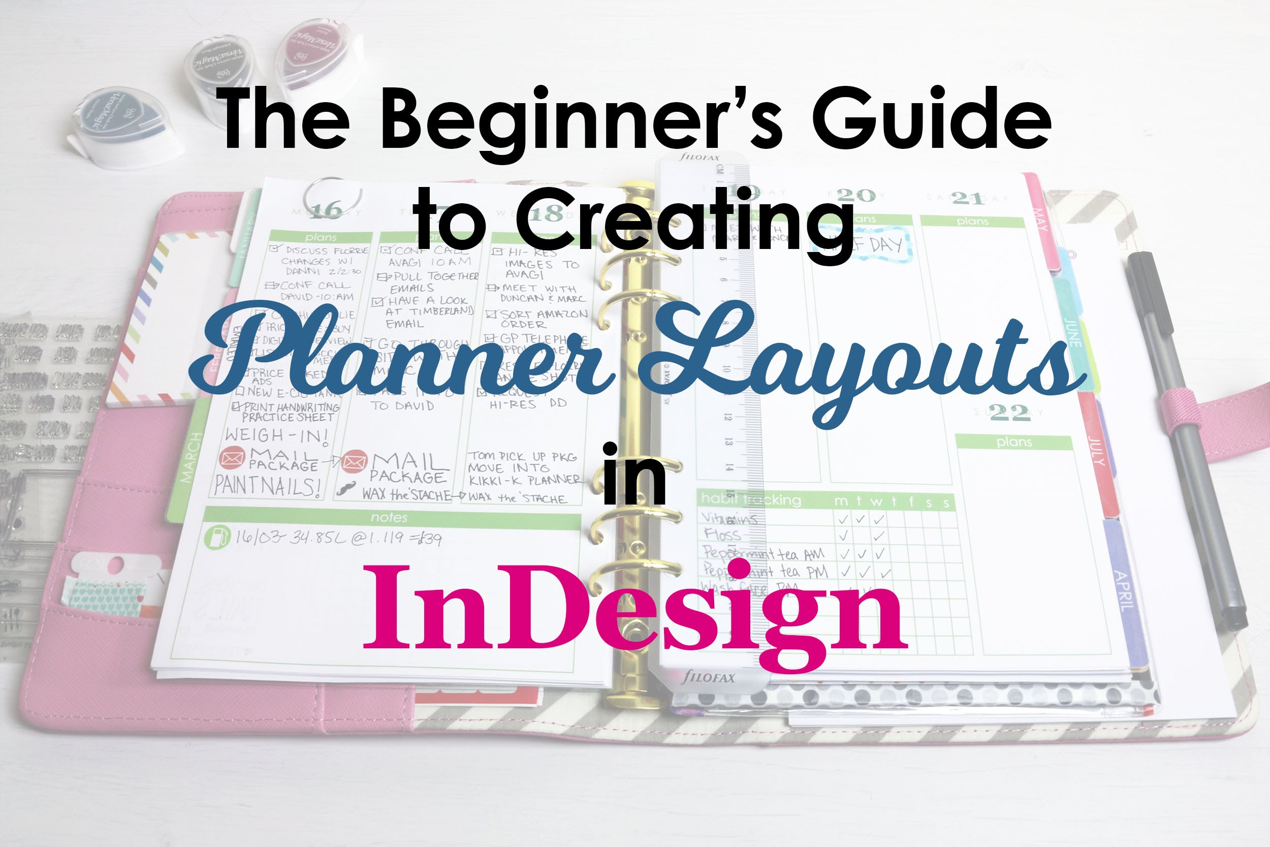 The Beginner's Guide to Creating Planner Pages in InDesign YouTube