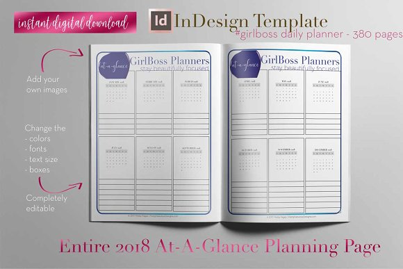 Planner Template Indesign