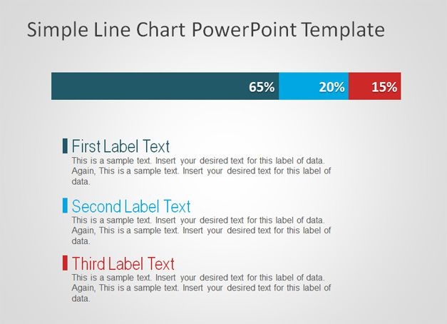 simple powerpoint template free simple line chart powerpoint