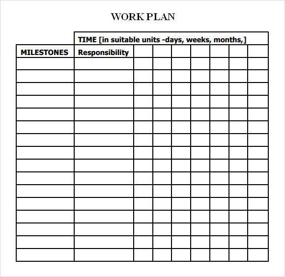 Work Plan Template 17+ Download Free Documents for Word, Excel, PDF