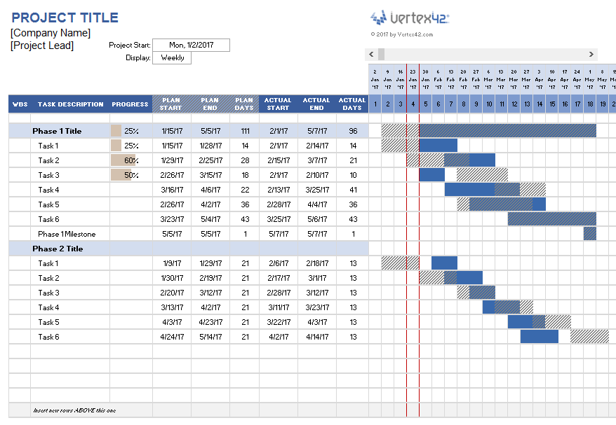 Project Plan Template Free Excel - printable schedule template