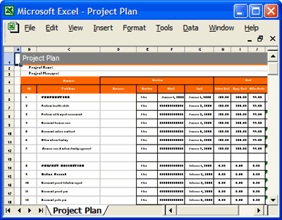 Project Plan Template In Excel Free Printable Schedule
