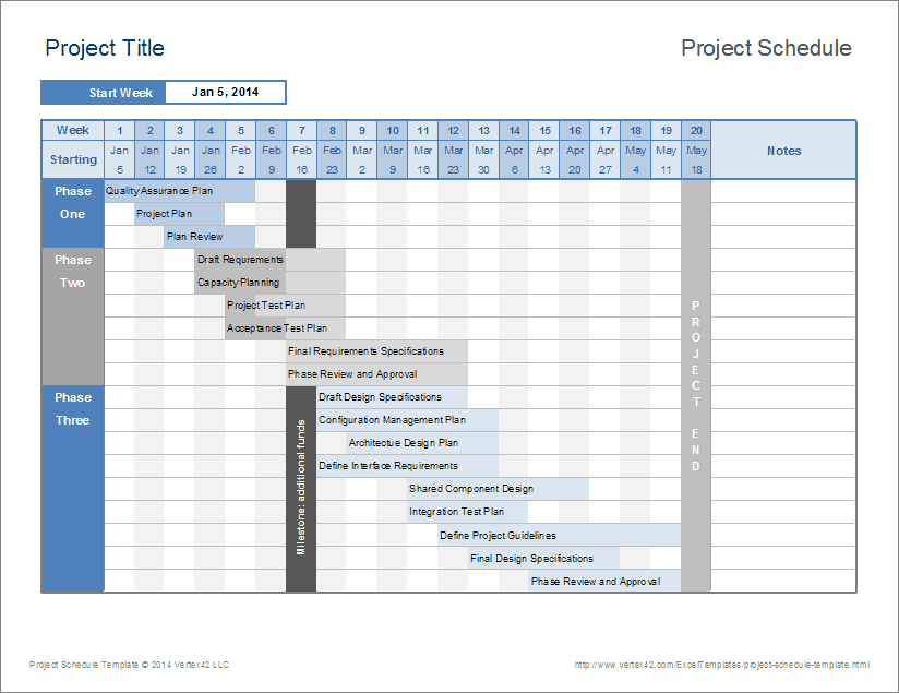 Project Schedule Template Free