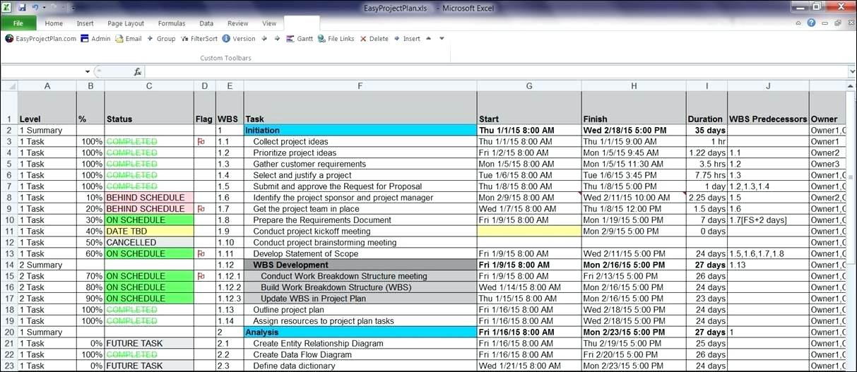 15+ Project Management Templates for Excel