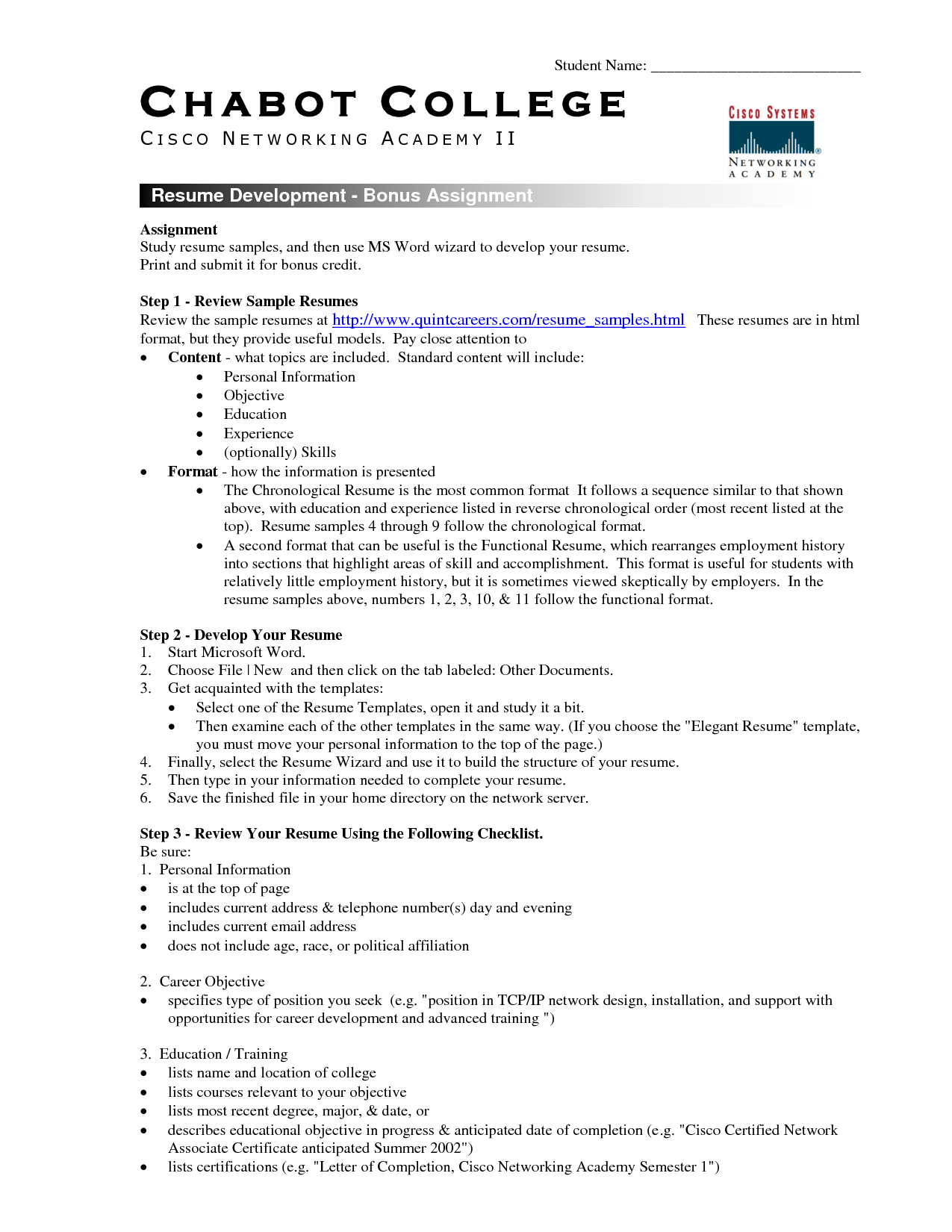College Student Resume Template Microsoft Word Sample College
