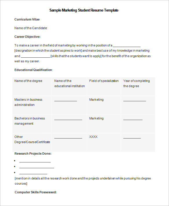 Student Resu Nice College Student Resume Template Microsoft Word
