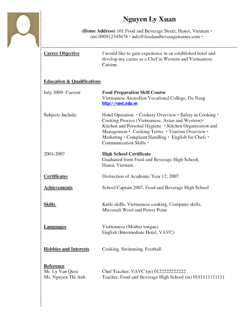Sample Resume College Student Vintage No Experience Resume Sample