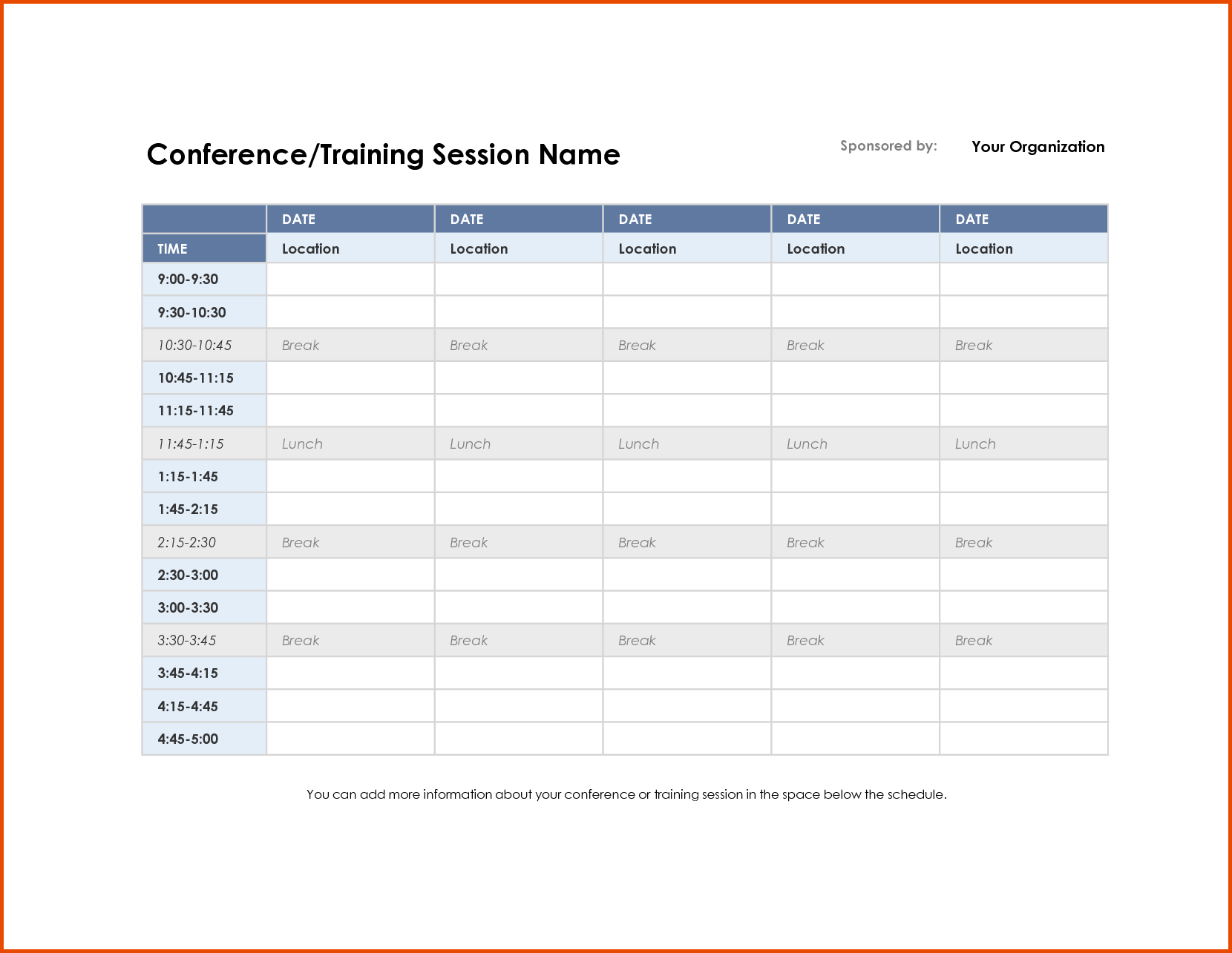 schedule of meetings template Giuseppe.miesz.co