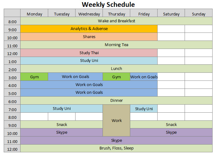 Free Schedules for Excel