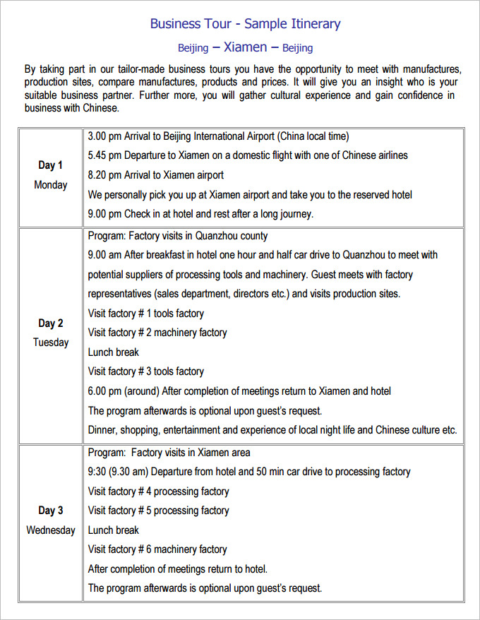 schedule itinerary template trip itinerary template 20 free word