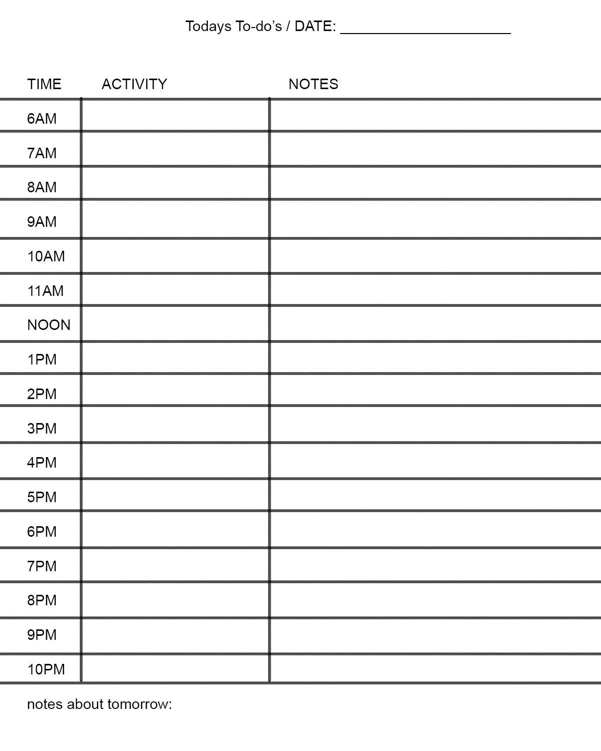 Production Scheduling Template