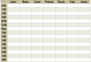 today's schedule and other tips/tools/templates found on this site