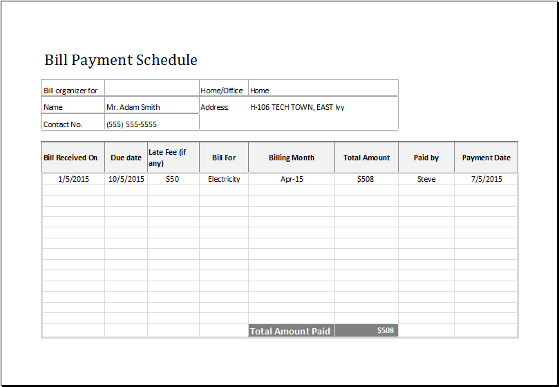 16+ Payment Schedule Templates Word, Excel, PDF | Free & Premium