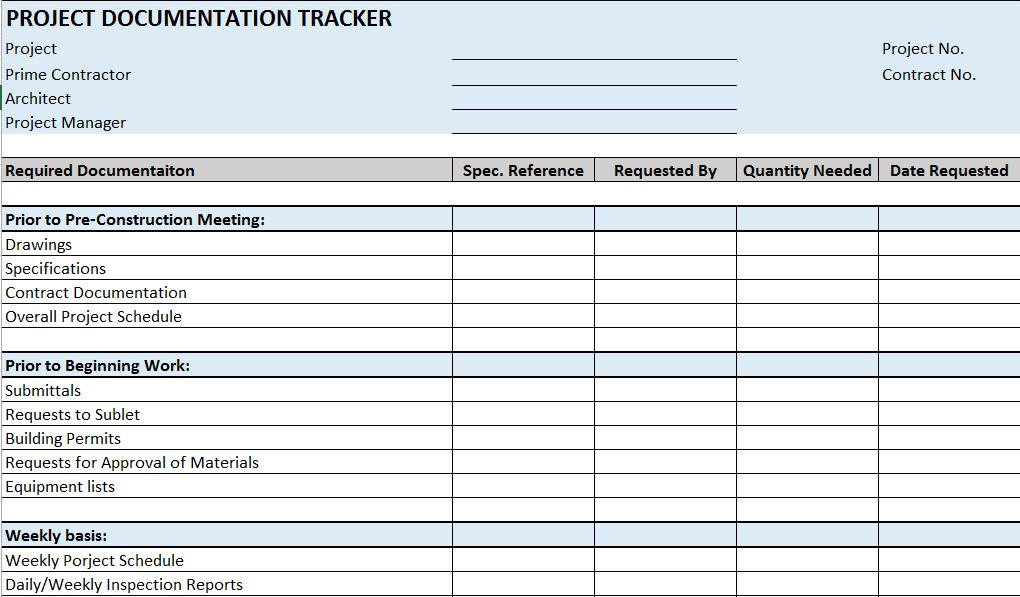 Residential construction schedule template excel documentation