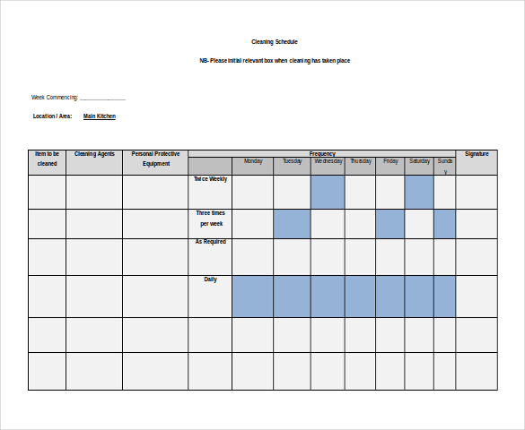 Weekly Schedule Template 9+ Free Word, Excel, PDF Format